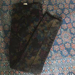 Dark floral camo pants